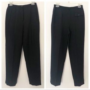 Giorgio Armani Size 4 Black & Silver Wool Pants